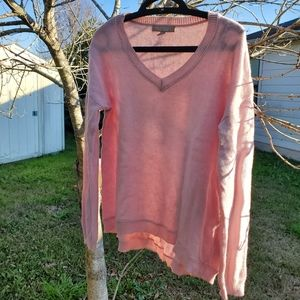 Banana Republic pink Cashmere pink sweater